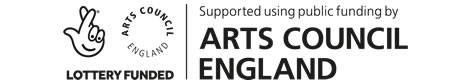 Lottery Funded - Arts Council England (small banner logo)