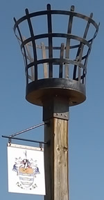 Worthing Seafront Beacon - close up of basket