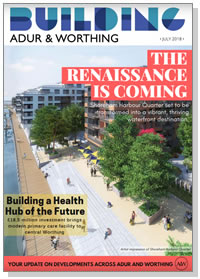 Building Adur & Worthing magazine cover - July 2018