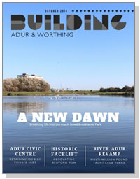 Building Adur & Worthing magazine cover - October 2018