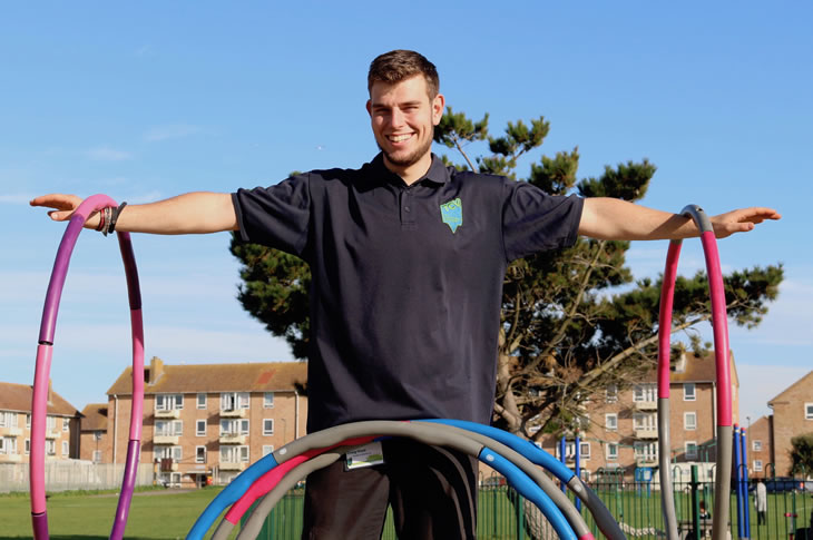 PR18-206 - Growing Communities' Craig Ifield at a Hula Hoop Fitness session earlier this year