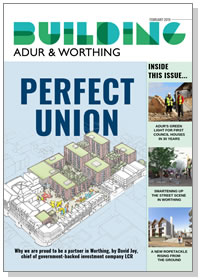 Building Adur & Worthing magazine cover - February 2019