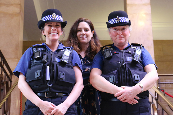 2019-03-12 - PCSO Hannah Hall, Sophie Whitehouse and PCSO Ann-Marie Rushworth