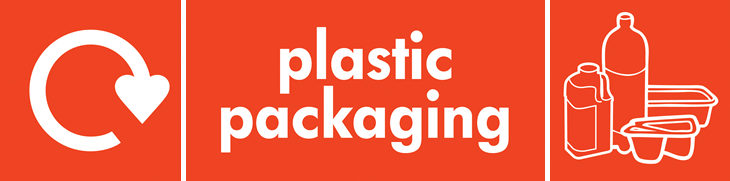 Plastic bottles and containers (WRAP logo banner)