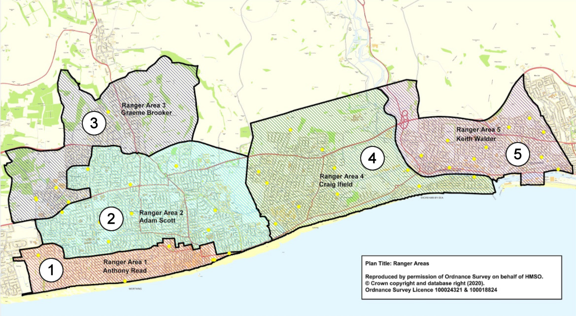 2021-03-31 - Park Ranger areas in Adur and Worthing